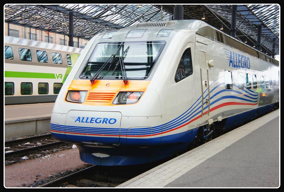 #поездаллегро  Скоростной поезд Аллегро Санкт-Петербург - Хельсинки
