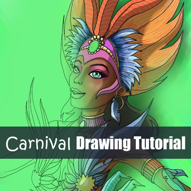 how to draw a Carnival Dancer step by step