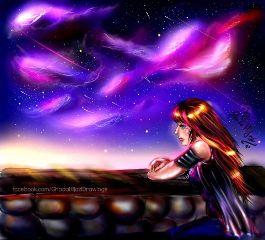 drawing sai art digital art night sky