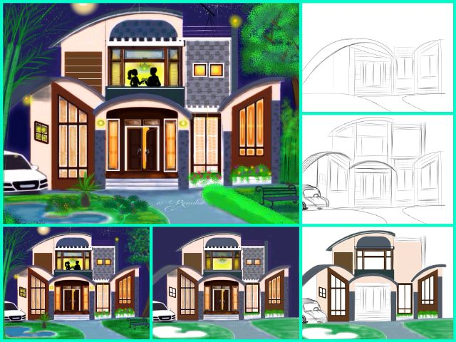 house drawing tutorial