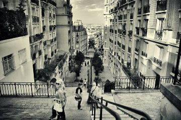 black & white montmartre paris photography quotes & sayings street