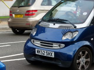photography photostory smart lashes blue car