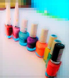 colorful love nail paints