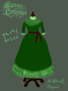 fashion drawing dress christmas