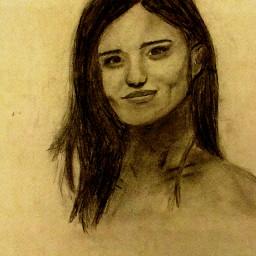 pencil art sepia portrait