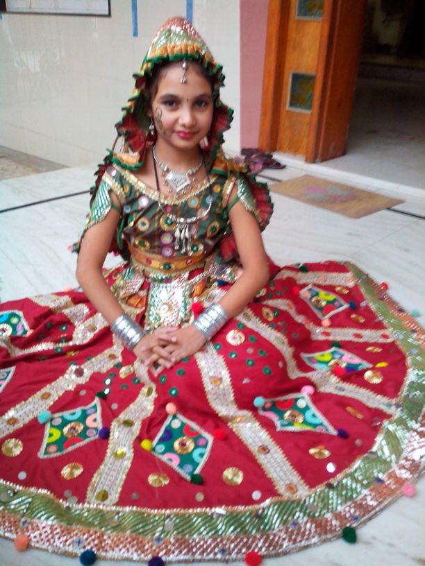 my. daughter in traditional Gujarati dress...