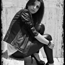 people black & white