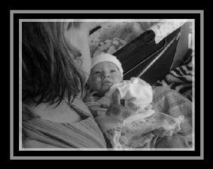 photography daughter black & white love baby grandchildren