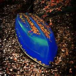 autumn brandenburg boat collage