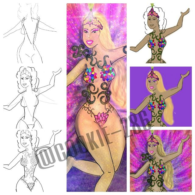 how to draw carnival step by step