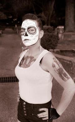 photography people black & white day of the dead
