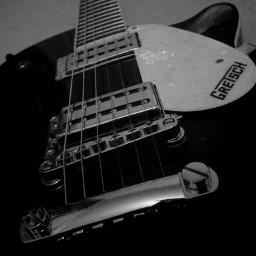 guitar black & white music photography retro gretsch