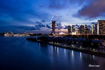 evening blue photography singapore travel
