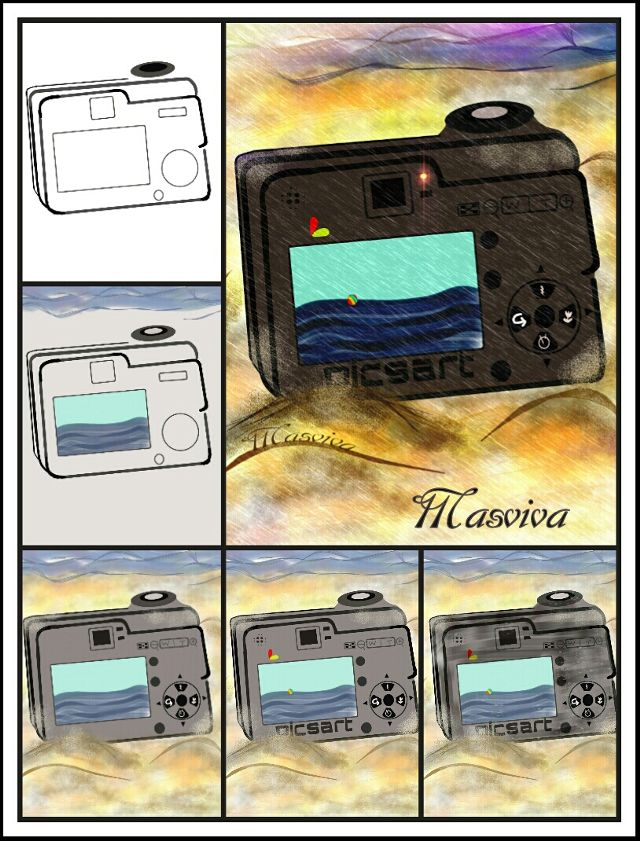 draw a camera step by step