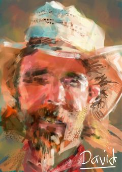 drawing painting art people dccowboy portrait