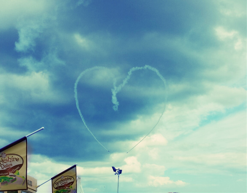 #writteninthesky#heart#planes#stunt#airshow#clouds#blue