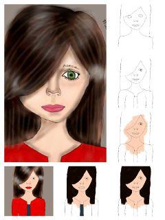drawing colorful people portrait drawstepbystep