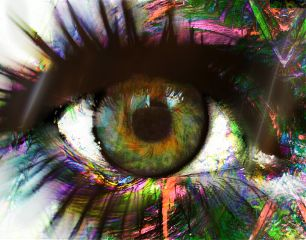 abstract eye emotions colorful fun with fx