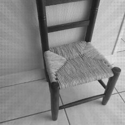 chair vintage old photo black & white