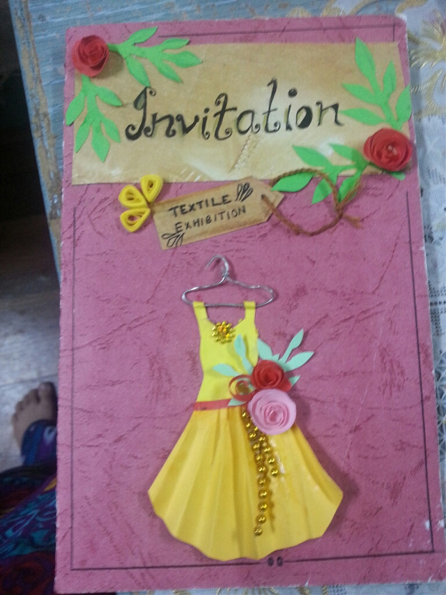 how r all of u ?? long time sincr I posted anything ! i made this invitation card for skool !! everything I made including the dress !!♥♥♥